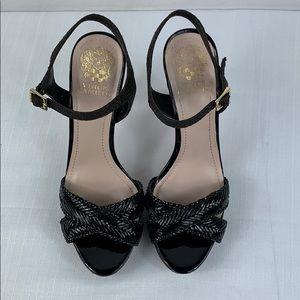 Vince Camuto Black Sandal Heels Size 8.5
